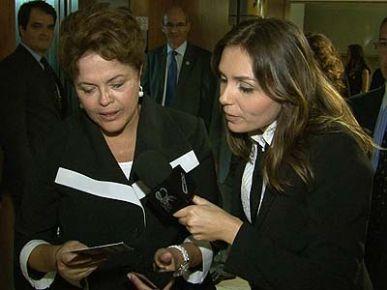 Monica Iozzi do CQC entrevista Dilma