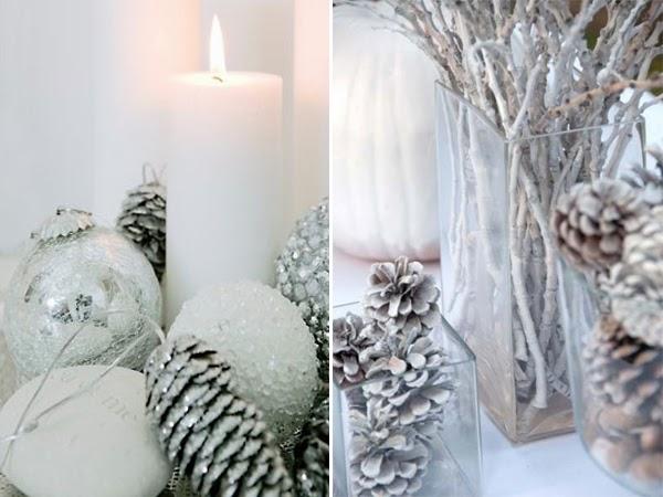 decoracao de arvore de natal azul e prata:ÁRVORES DE NATAL BRANCA E PRATA – Luxos e Luxos