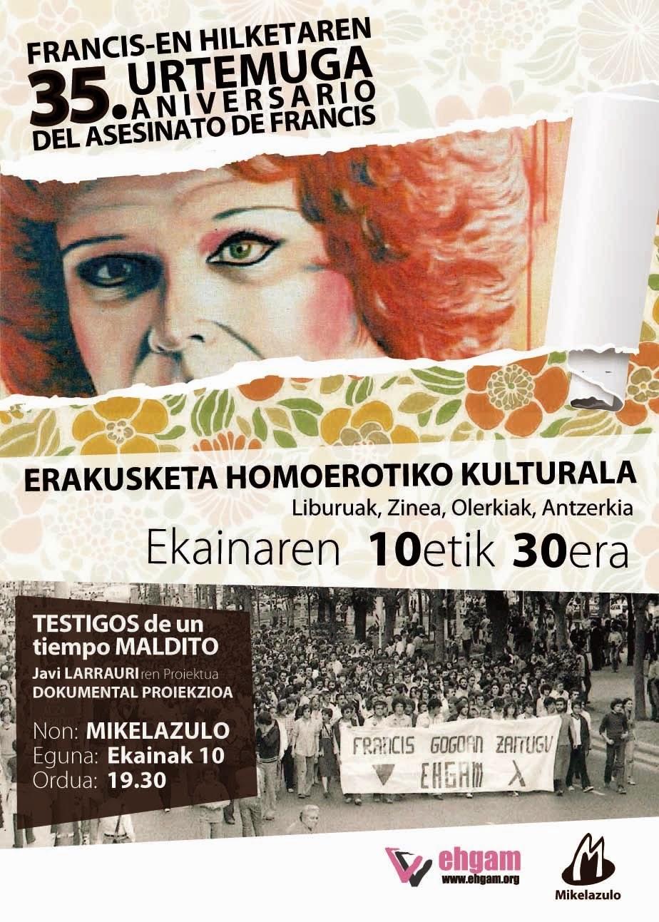 ERAKUSKETA HOMOEROTIKO KULTURALA