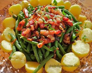 Льежский салат из зелёной фасоли
