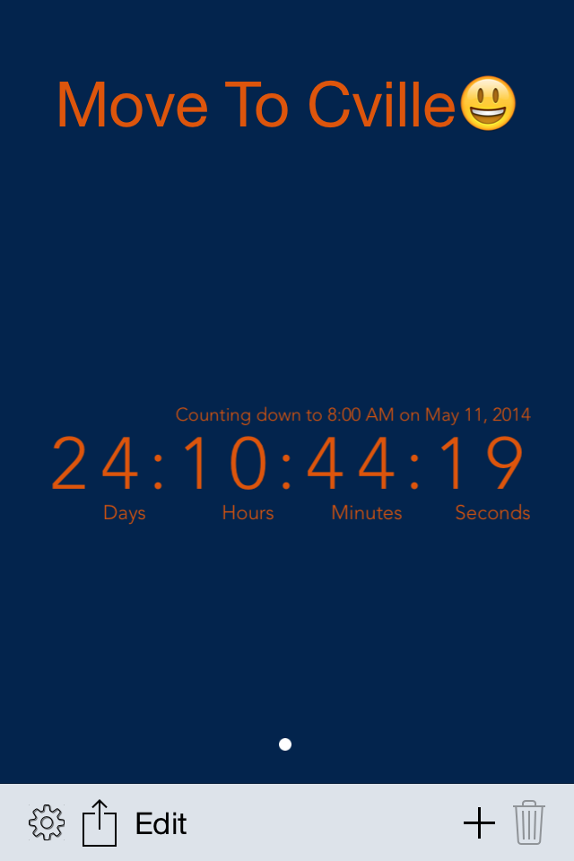 Charlottesville Move Countdown