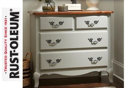 Protege y decora rust oleum chalky finish pintura para - Pintura ala tiza para muebles ...