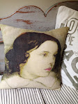 One-off, beautifully made cushion by Lynn Barron