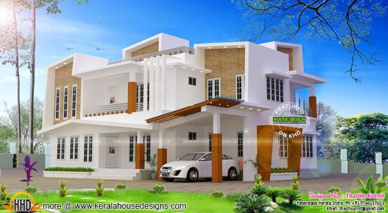 243 sq-m Modern contemporary house in Kasaragod, Kerala