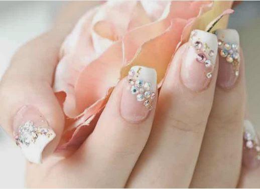 Simple Wedding Nail Arthttpnails Sidespot