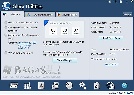 Glary Utilities Pro 3.3.0.112 Final Full Serial 2