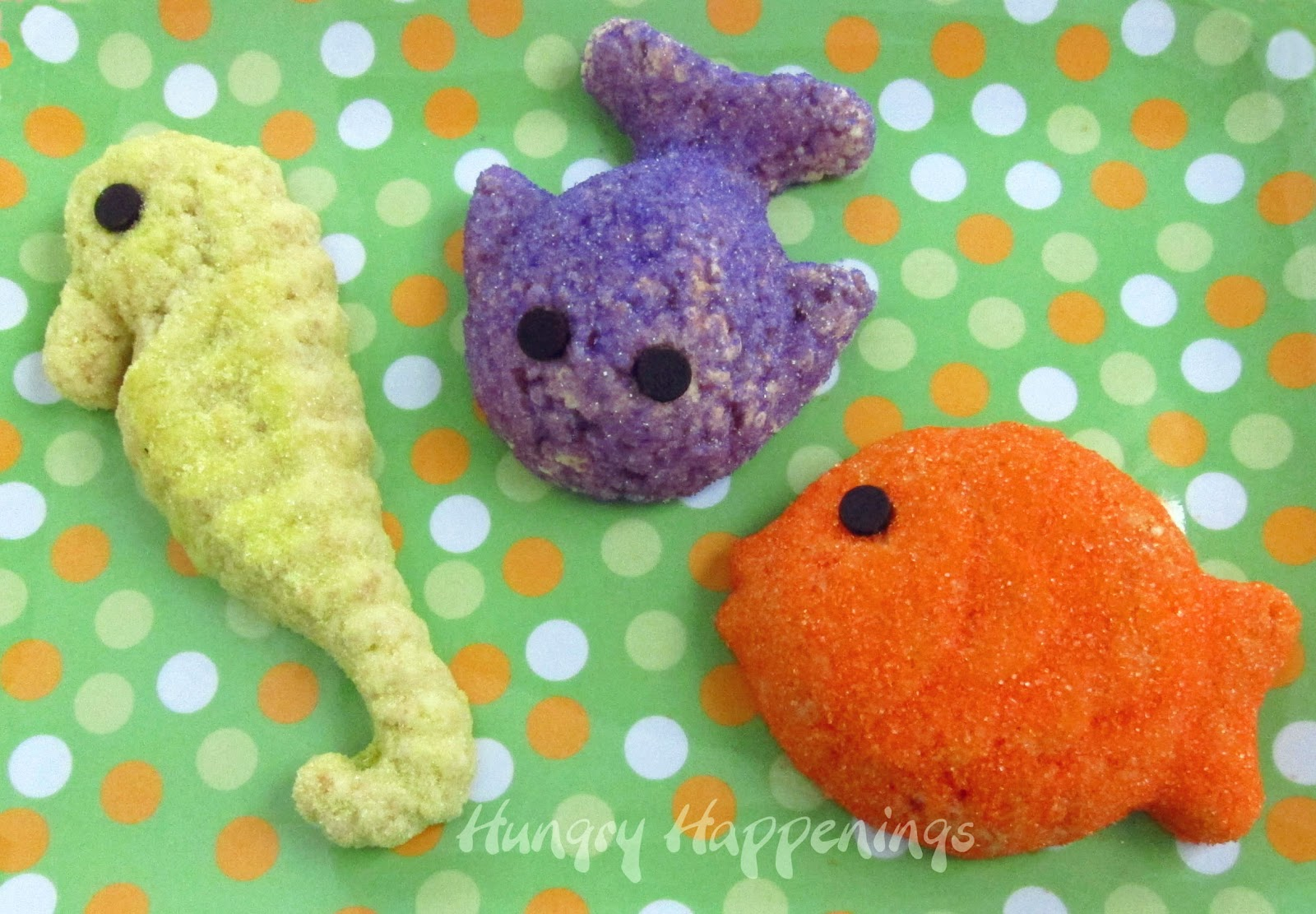 Rice Krispie Treat Sea Creatures - Hungry Happenings