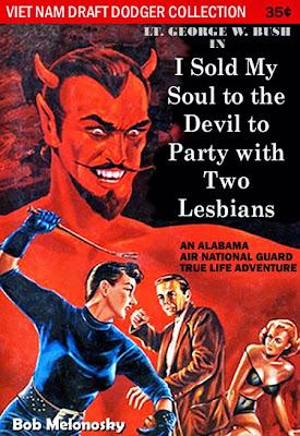 George W. Bush lesbians party high cocaine funny Bob Melonosky