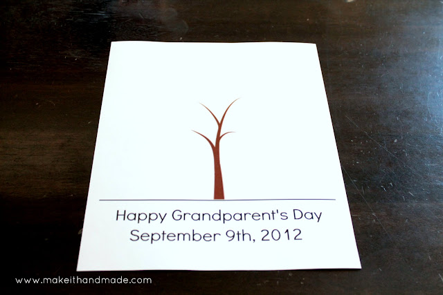Grandparent's Day Handprint Tree! -- Free printable