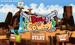 Screenshots of the Draw Cowboy for Android tablet, phone.