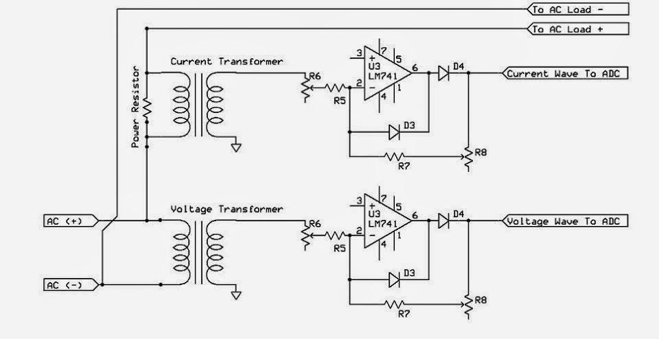 electrical engineering world digital wattmeter block diagram dc motor diagram with labels