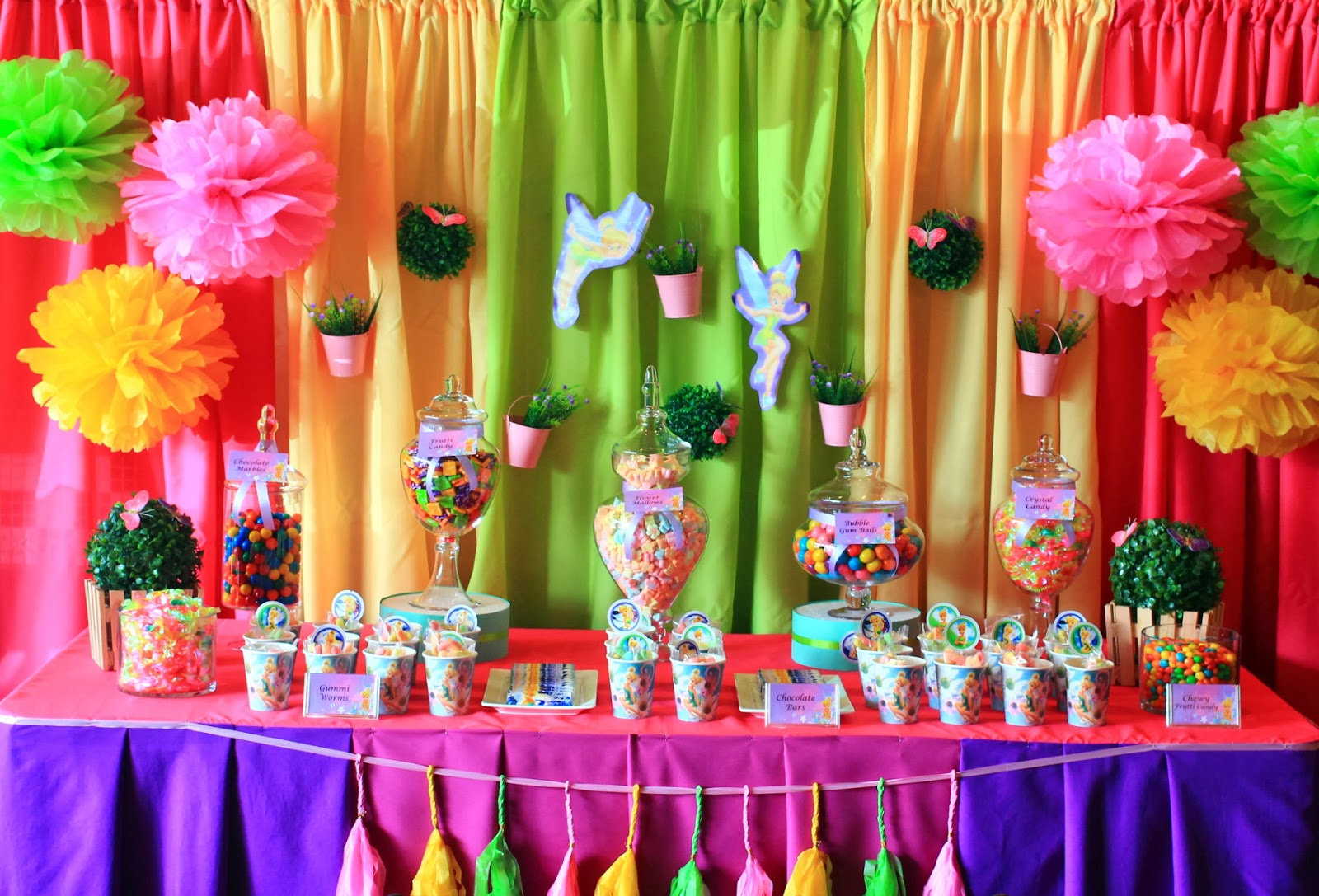Kids Party Hub: Tinkerbell Themed Party and Candy Buffet