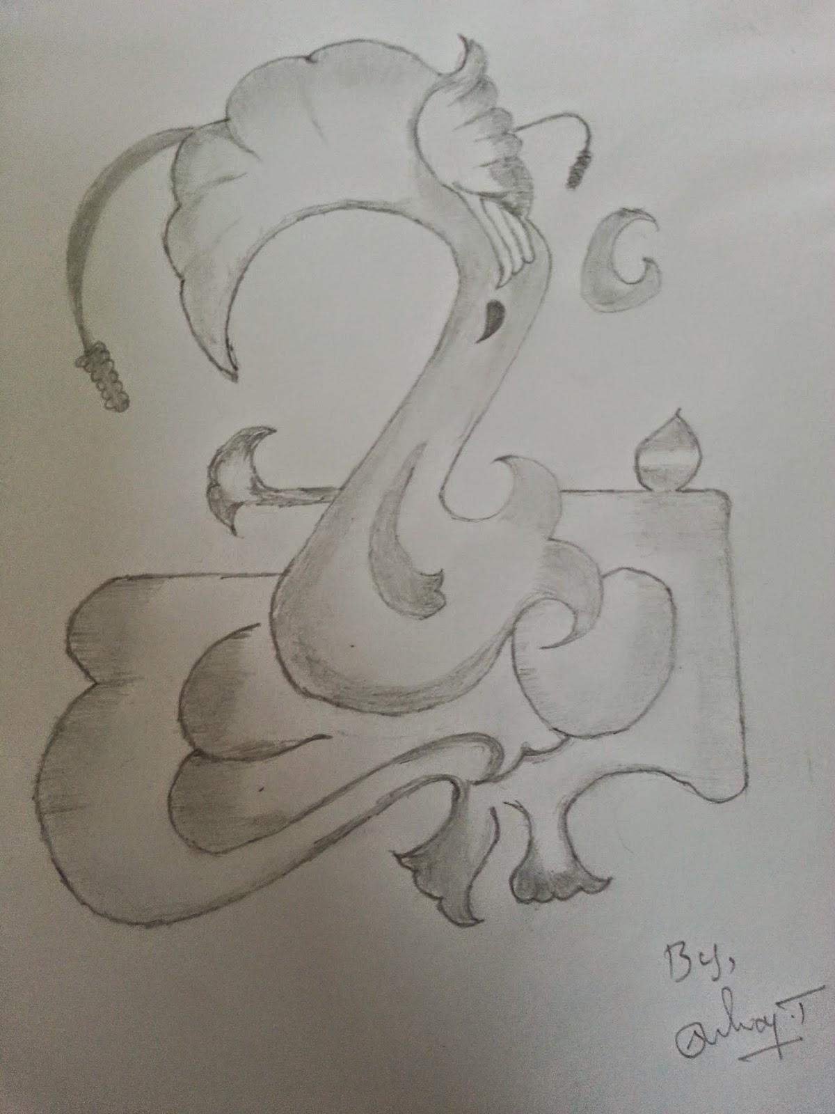 Ganapathi pencil drawings lord ganesha pencil sketch ganapathy part1