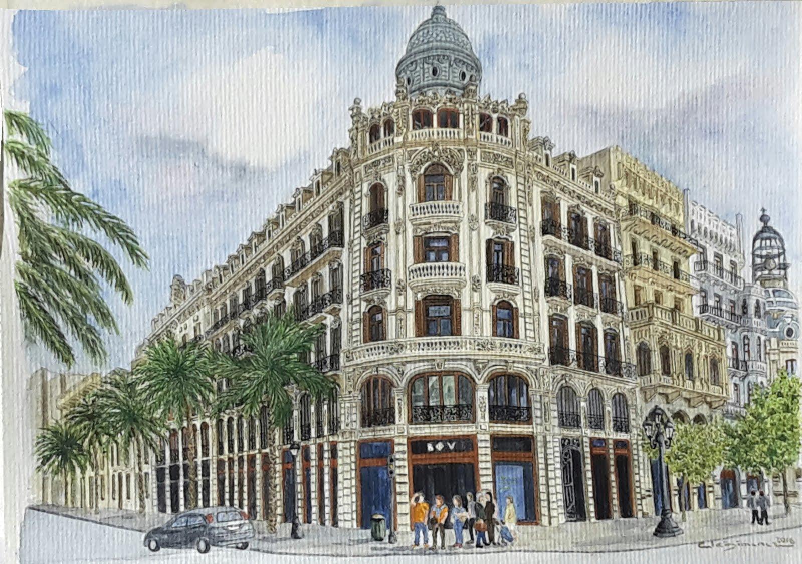 Edifici Ernesto Ferrer - Plaça Ajuntament- plaza ayuntamiento Valencia