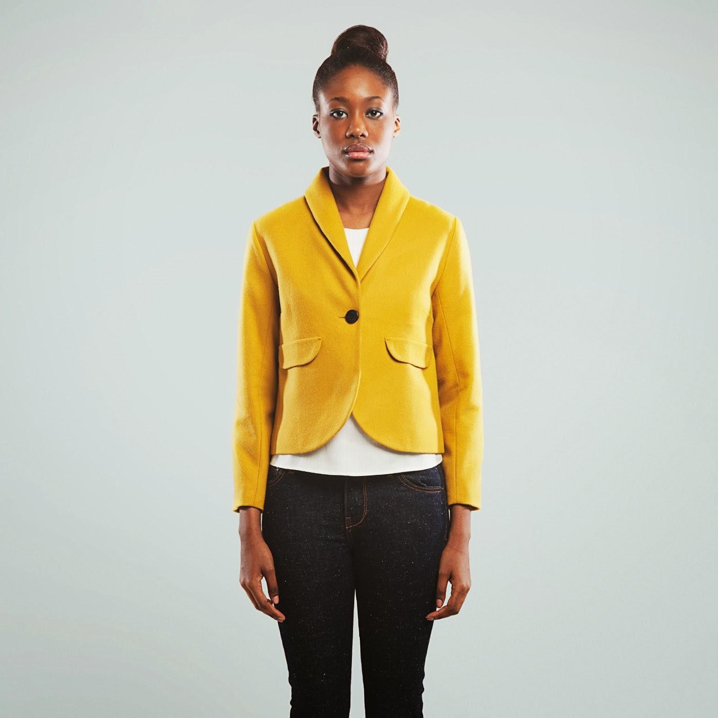 blazer amarillo Kitsuné