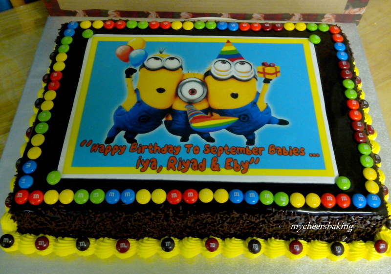 My Cheers Baking Despicable Me Minion Birthday Cake