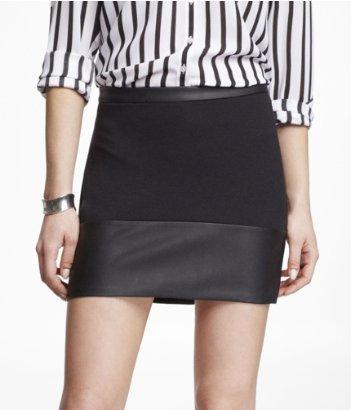 Express minus the leather mini skirt, trim knit ponte