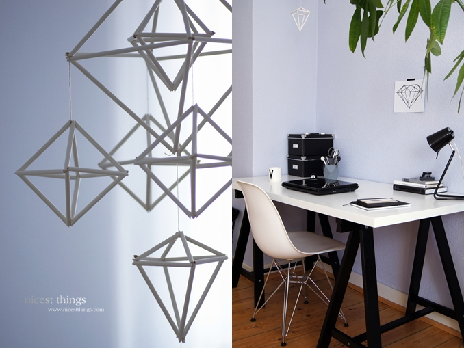 DIY: Himmeli + Working Space Ideas