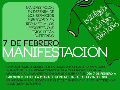 Movilizaciones por la Educación Pública Manif+febrero+12