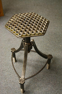 nuts barstool weld art sculpture eric dolan