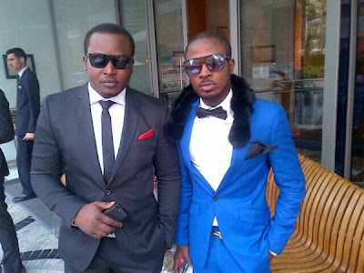 Eldee & Tunde Ednut at 2face's wedding
