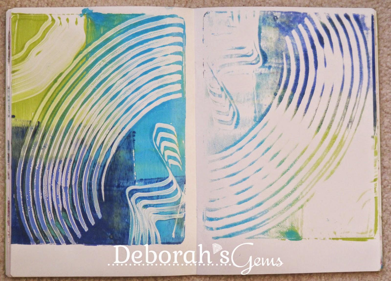 Gelli Journal 6 - photo by Deborah Frings - Deborah's Gems