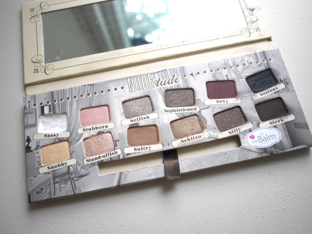 thebalm the balm nudetude eyeshadow palette nude'tude review swatches