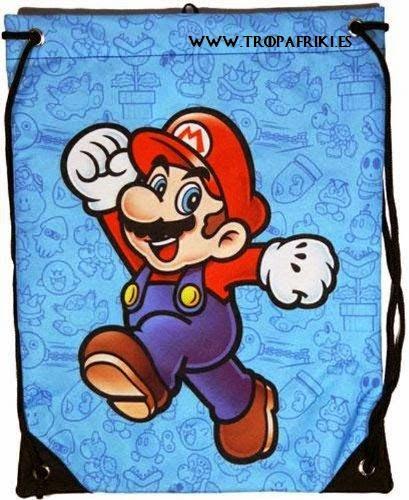 Mochila friki Cuerdas Mario Bross de Nintendo bolsa cuerdas