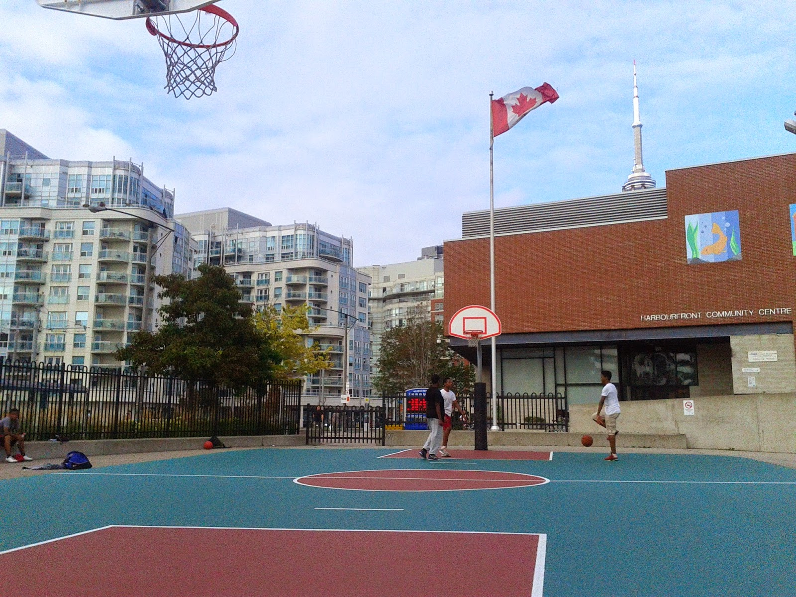 Toronto Things Harbourfront Centre Outdoor Basketball Court