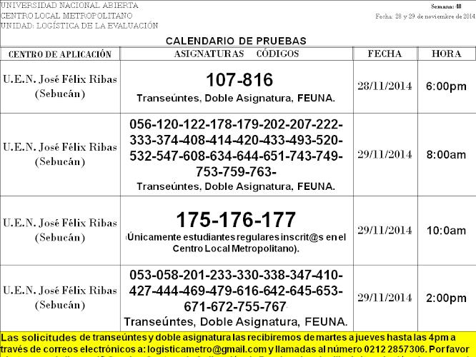 CENTRO DE PRESENTACIÓN EN CARACAS. VIERNES 28 y SÁBADO 29 DE NOVIEMBRE.
