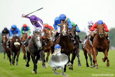Princess Lily leading from the front in the Diamond jubilee stakes at Ascot
