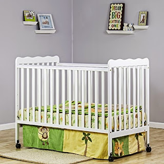 Dream On Me Classic 2 in 1 Convertible Stationary Side Crib, White
