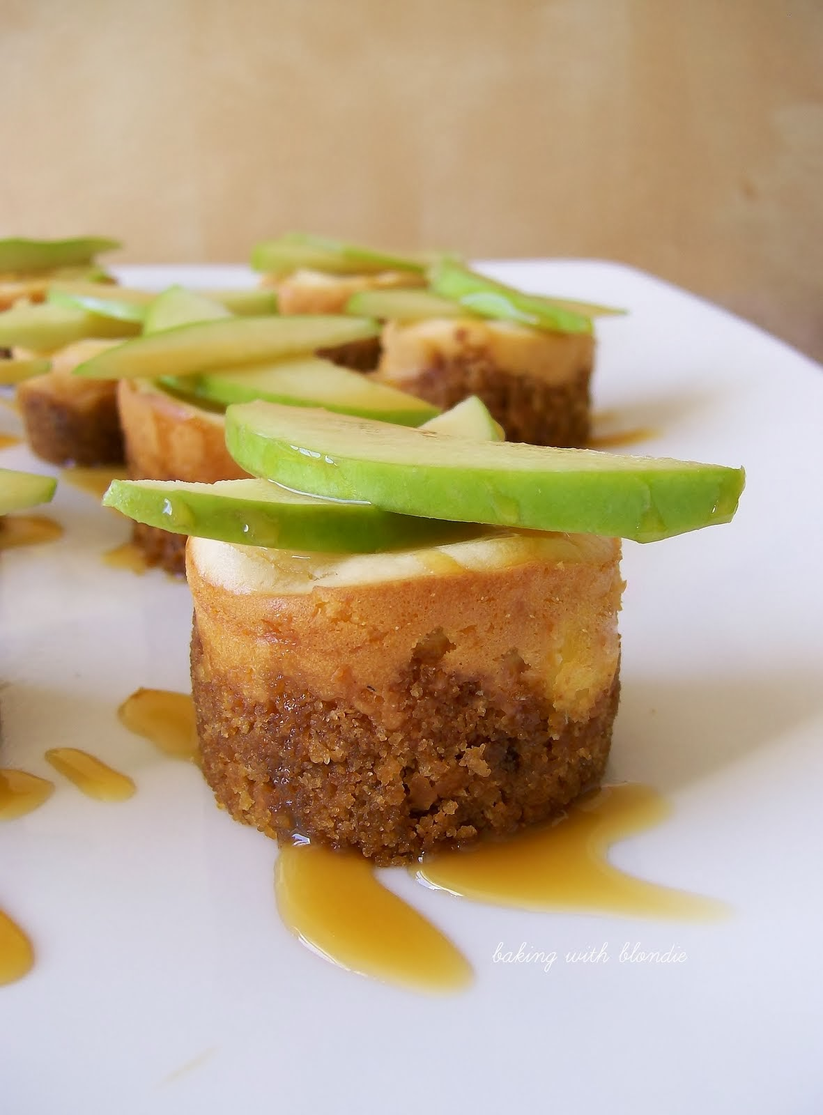 Mini Salted Caramel Apple Cheesecakes