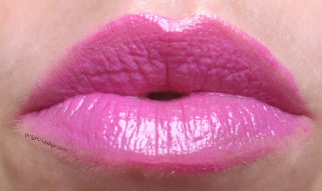 Dirty Little Secret lipstick in Guilty Pleasure, swatch, @girlythingsby_e