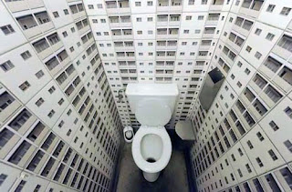 toilet in tower block