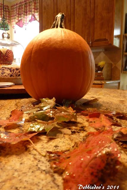 P1090950 Mod podge pumpkin! {Fall decorating}