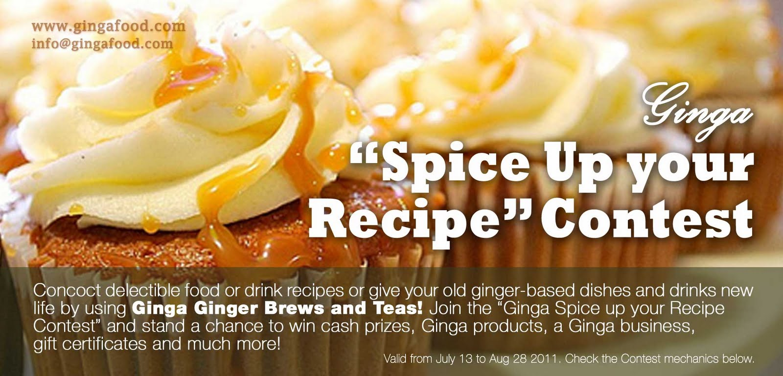 Ginga launches the ginga spice up your recipe facebook contest forumfinder Choice Image