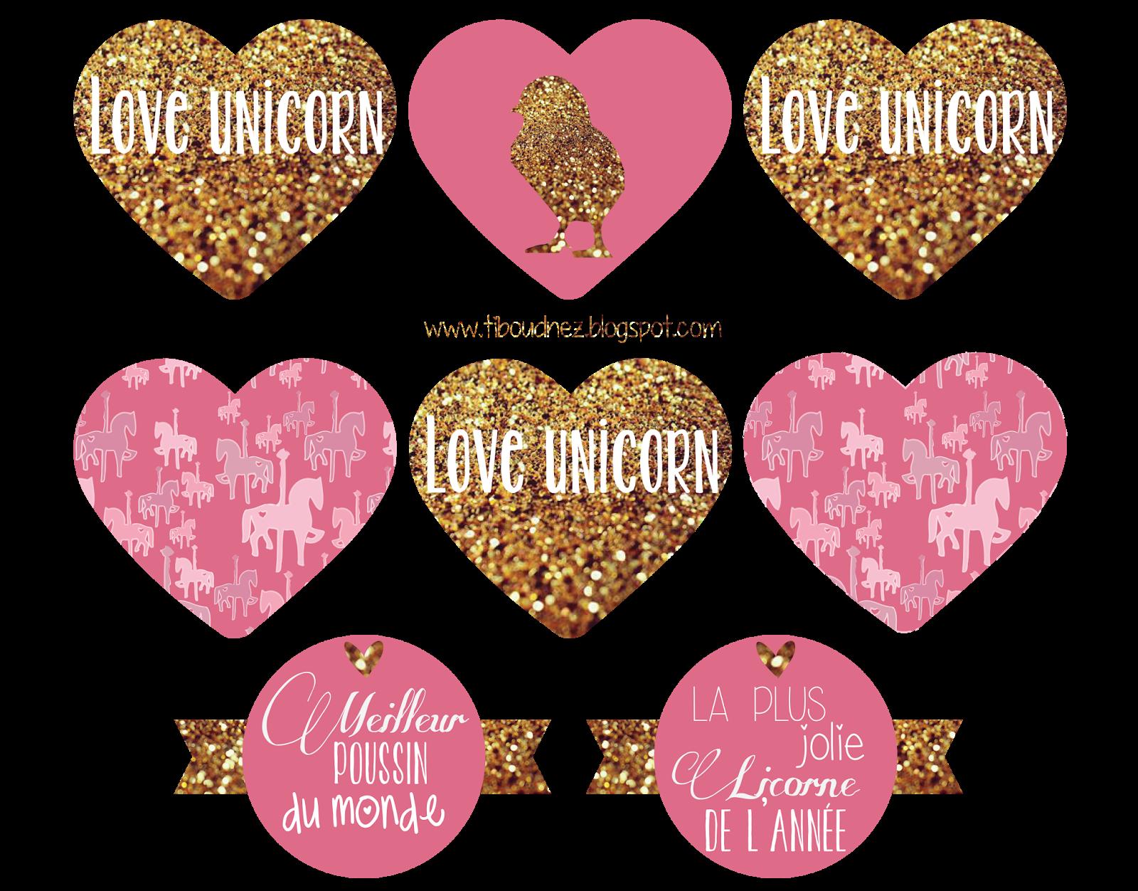 Extrêmement ♥ Des licornes & des poussins - A imprimer ♥ - TIBOUDNEZ EQ65