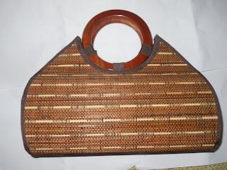 Tas Lidi Bulan Handle Bulat, tas lidi, tas etnik, tas  lokal, tas bahan alam