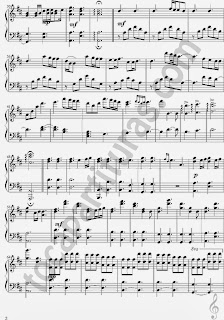 2 Partitura de A Thousand Years para Piano Sheet Music for Piano (3 hojas de música)