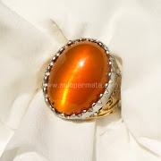 Cincin Batu Permata Golden Cat Eye - SP685