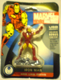 Front of Iron Man USB memory figurine