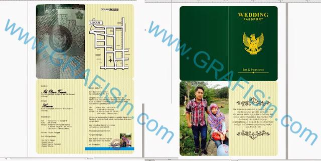 Undangan Passport Gratis format CorelDraw dan PDF