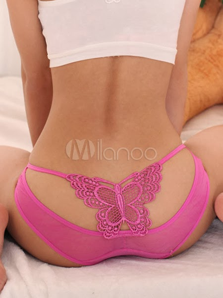 China Wholesale Clothes - Sexy Bow Back Acrylic Cosy Ladies Panties