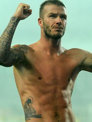 david beckhams tattoo. Who does not know David