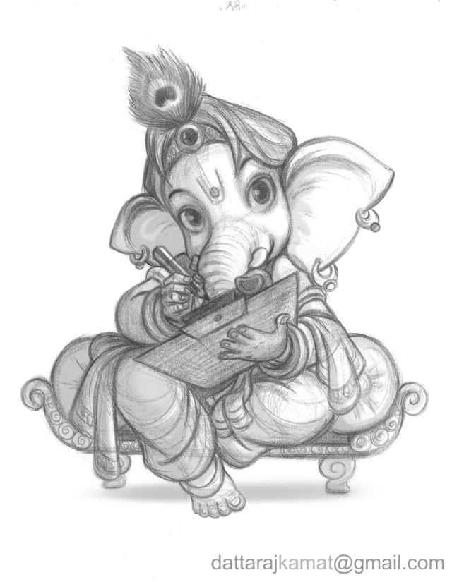 DATTARAJ KAMAT Animation Art Shri Ganeshay Namaha
