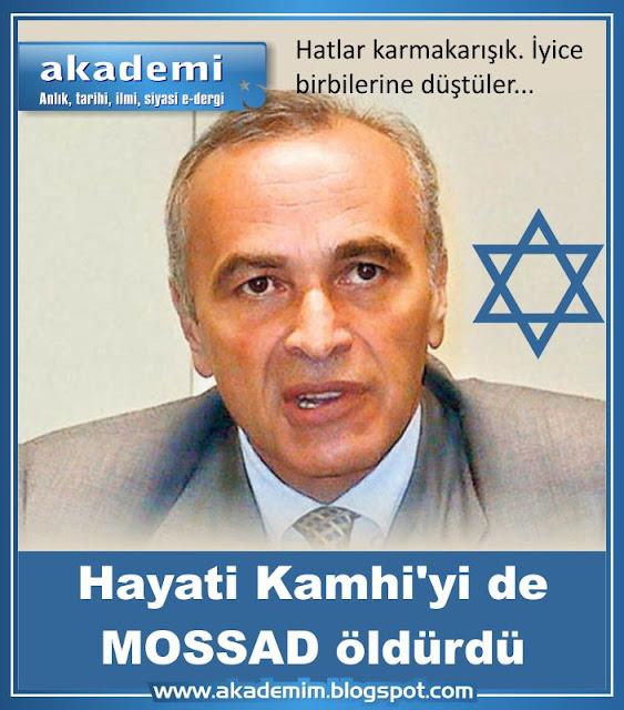 MOSSAD öldürüyor, intihar denilip üzeri örtülüyor. Hayati Kamhi'yi  MOSSAD öldürdü