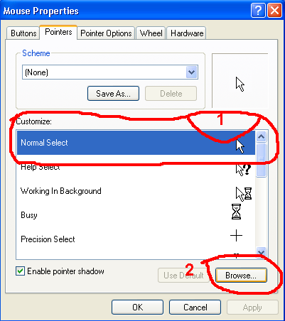 how to use two mouse pointers