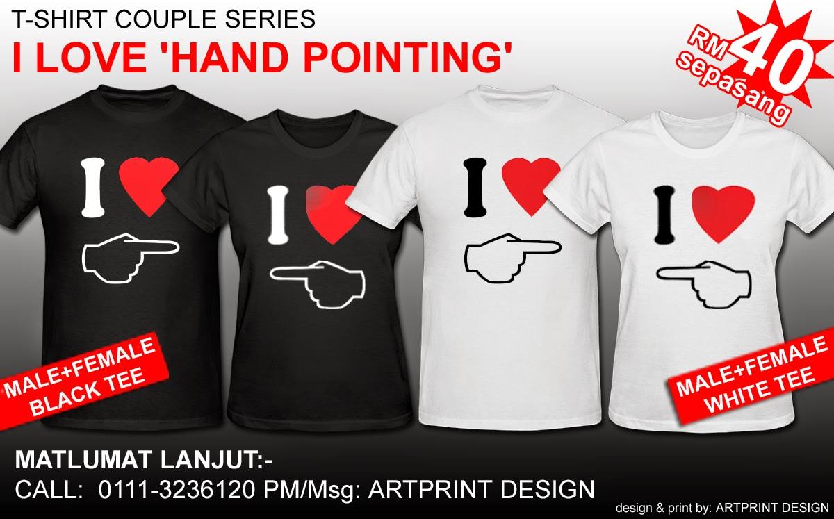 Design t shirt couple - T Shirt Couple Series 1 Ready To Order
