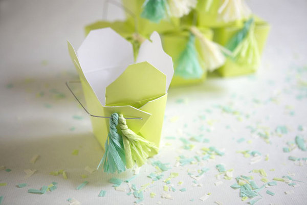 unique gifts: crepe paper tassels